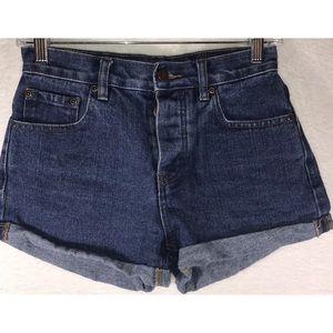 High waist denim shorts Size 25 Button fly